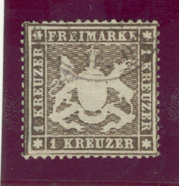 Württemberg Mi.Nr.17yb gestempelt geprüft BPP