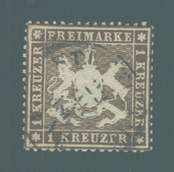 Württemberg Mi.Nr. 16y gestempelt dünnes Papier