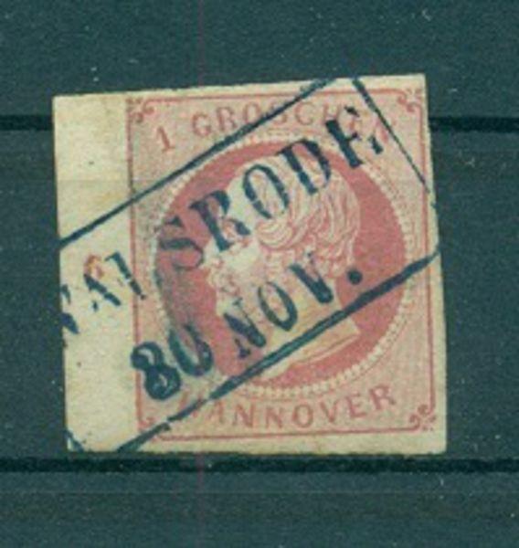 HANNOVER Mi.Nr. 14 mit Rahmenstempel Walsrode