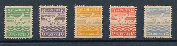 Falkensee Mi.Nr.1-5 ** postfrisch
