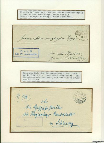 Krempe (Schleswig-Holstein) Dienstbriefe Deut. Reich