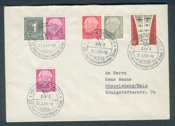 Bundesrepublik Zusammendruck auf Brief