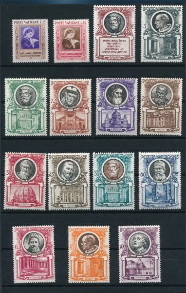 Vatikan Jahrgang 1953 ** postfrisch