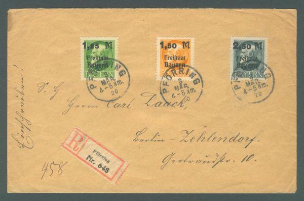 Einschreiben aus Pförring nach Berlin