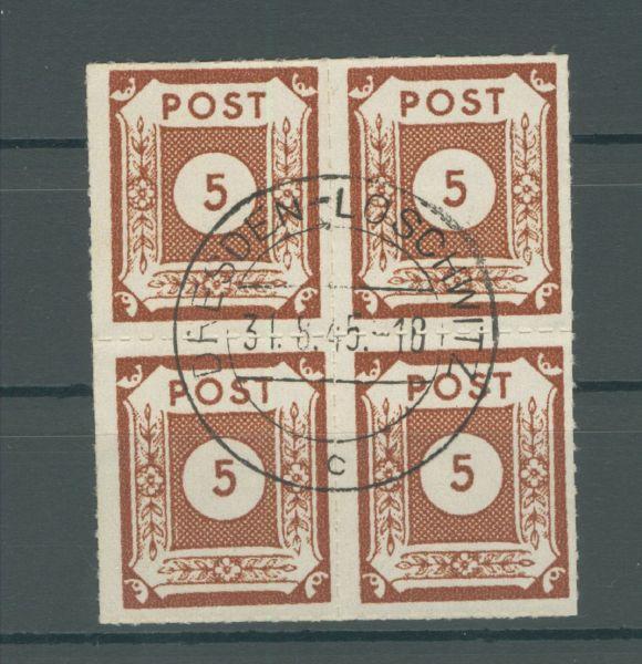 SBZ Mi.Nr.42-50 G Viererblock gestempelt Fotoatt.BPP