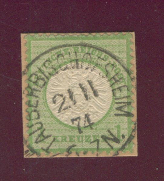 Deutsches Reich Mi.Nr.23 a Stempel Tauberbischofsheim