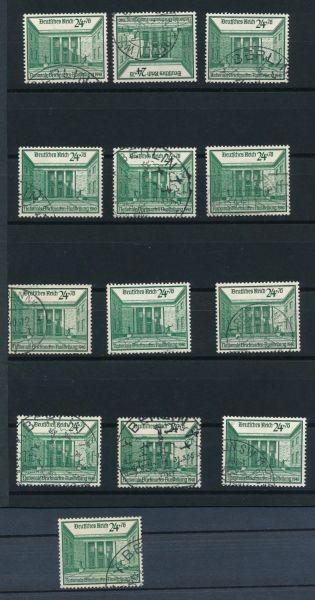 Deutsches Reich Mi.Nr. 743 gestempelt 13 mal