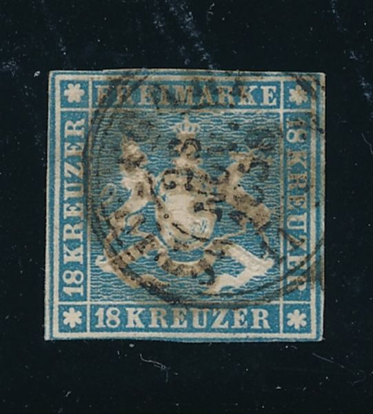 Württemberg Mi.Nr.10a gestempelt Luxus Fotoattest BPP