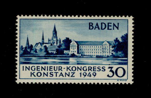 Franz.Zone Baden Mi.Nr.46 II * ungebr Fotobefund BPP