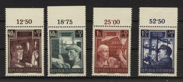 Österreich Mi.Nr.960-63 Oberrand ** postfrisch