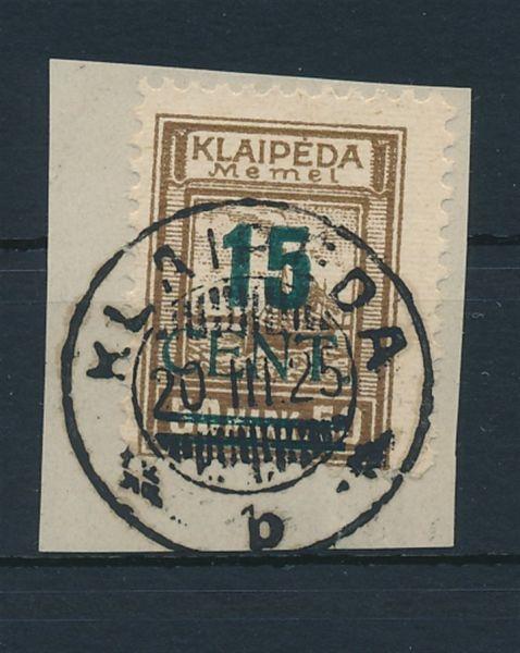 Memel Mi.Nr.234 I gestempelt Luxus Fotoattest BPP