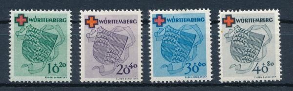 Württemberg Mi.Nr.40-43 ** postfrisch