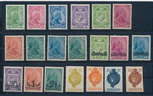 Liechtenstein 1912-1940 ungebraucht fast komplett