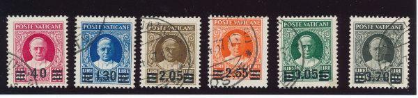 Vatikan Mi.Nr. 39-44 gestempelt Luxus Fotoattest BPP