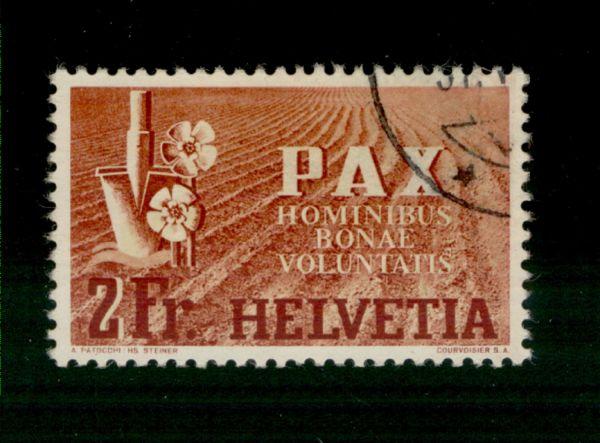 Schweiz Mi.Nr.456 Pax gestempelt