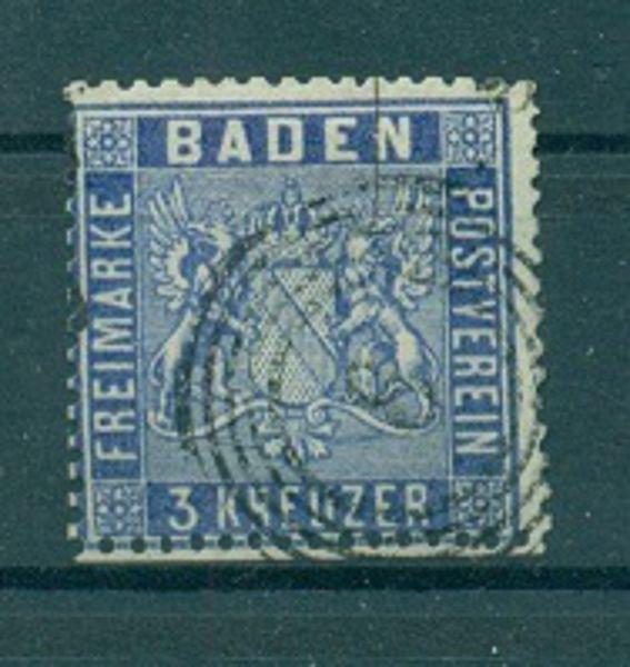 BADEN Mi.Nr. 10 c gestempelt geprüft