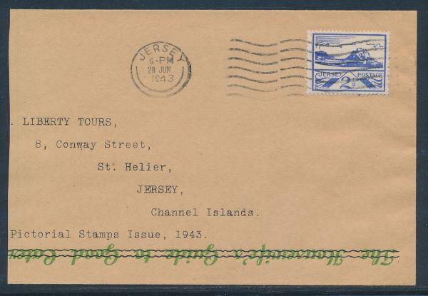 Jersey Mi.Nr. 7 auf Ersttagsbrief 29.Juni 1943