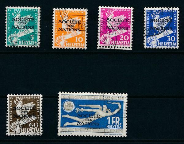 Schweiz SDN Mi.Nr.36 - 41 gestempelt