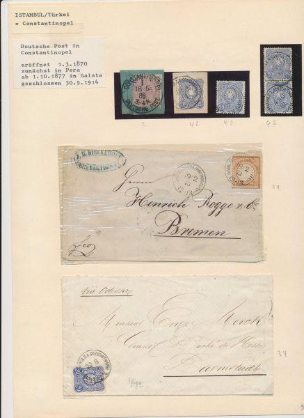 Deutsche Post in der Türkei Stempelsammlung mitBelegen