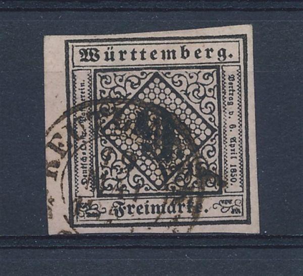 Württemberg Mi.Nr.4 b gestempelt geprüft Heinrich BPP