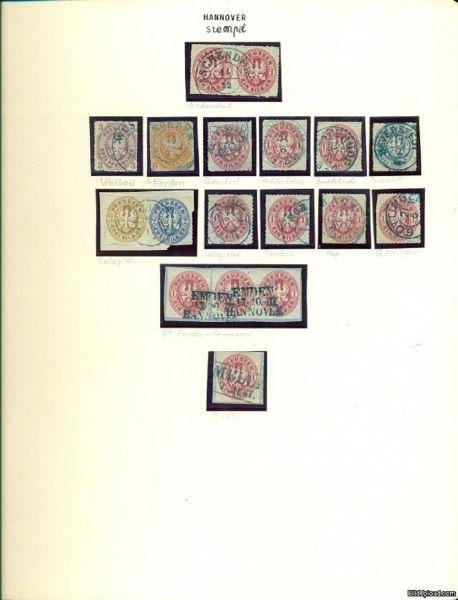 HANNOVER Stempel auf Preussenmarken Schöne Sammlung