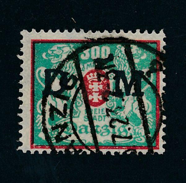 Danzig Dienst Mi.Nr.35 gestempelt Lux Fotoattest BPP