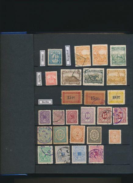 Deutsche Stadtpost alte Sammlung mit hunderten Werten