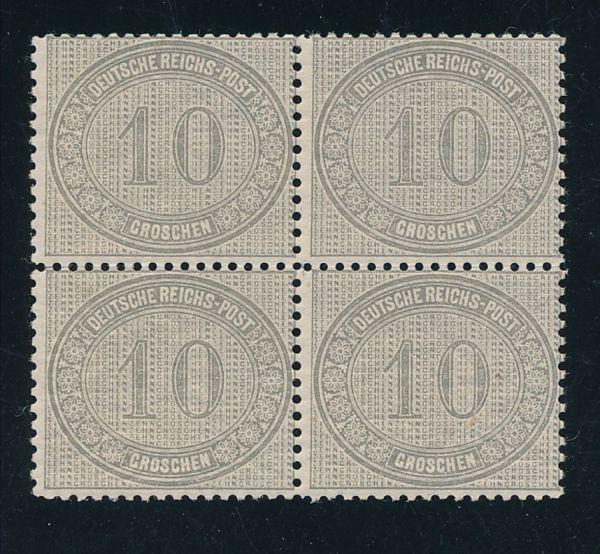 Deutsches Reich Mi.Nr.12 ** Vierer Lux Fotoattest BPP