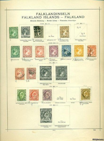FALKLANDINSELN 1891 -1938 Umfangreiche alte Sammlung