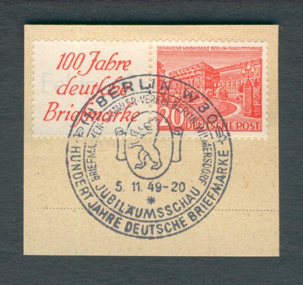 Berlin Zusammendruck W 13 Briefstück mit Sonderstempel