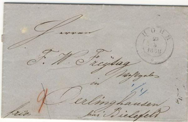 Höhr Kreisstempel 1858 sehr selten Vorphila-/Altbeleg