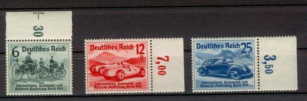 Deutsches Reich Mi.Nr.686-88 Randstücke ** geprüft BPP