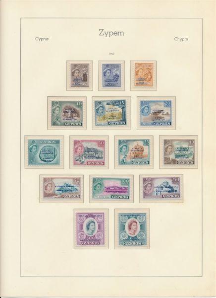 Zypern 1960-1988 ** postfrische Sammlung im Album