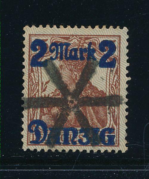 Danzig Mi.Nr.28 II gestempelt Lux Fotoattest BPP
