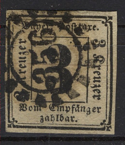 Bayern Porto Mi.Nr.1 gestempelt