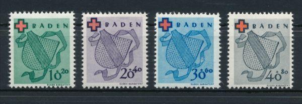 Baden Mi.Nr.42-45 ** postfrisch