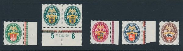Deutsches Reich Mi.Nr.425-29 ** postfrisch (290.-Euro)