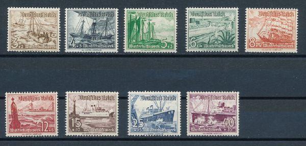 Deutsches Reich Mi.Nr.651-59 ** postfrisch
