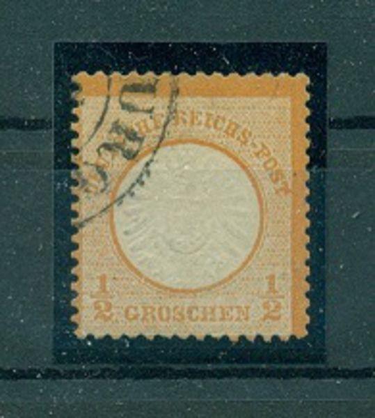 Deutsches Reich Mi.Nr.18 Hufeisen Hamburg Fotobefund