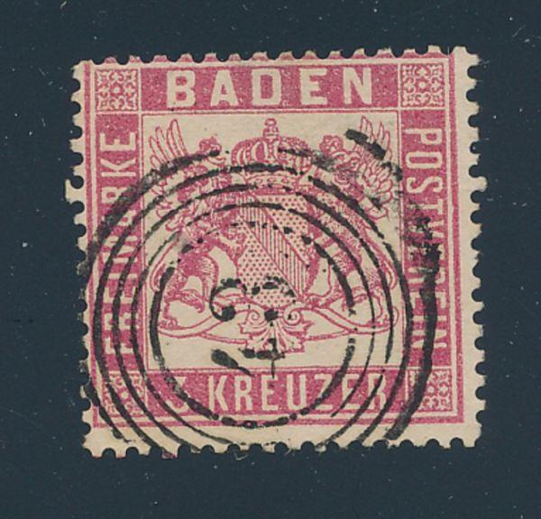 Baden Mi.Nr.16 gestempelt Luxus Fotobefund BPP