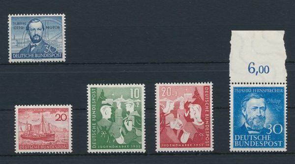 Bundesrepublik Mi.Nr.150,152-54 +161 ** postfrisch