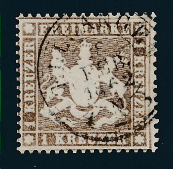 Württemberg Mi.Nr.16y gestempelt
