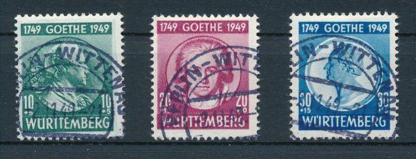 Württemberg Mi.Nr.44-46 gestempelt geprüft