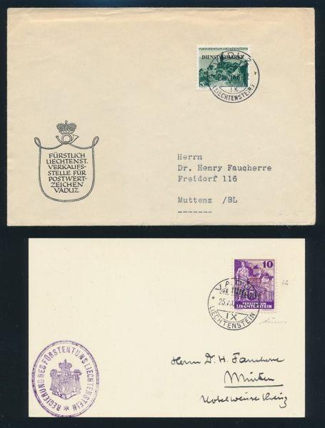 Liechtenstein Briefesammlung ca. 1920-1960