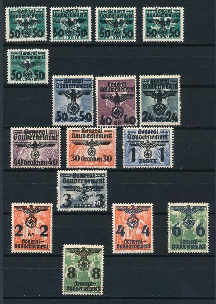 Generalgouvernement Mi.Nr.14-39 ** postfrisch geprüft