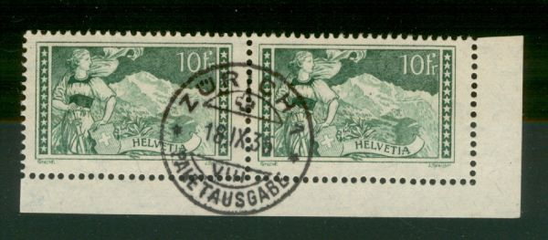 Schweiz Mi.Nr.228 Eckrandpaar gestempelt