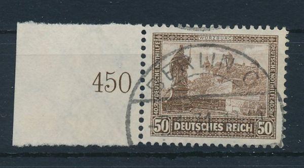 Deutsches Reich Mi.Nr.453 gestempelt Randstück