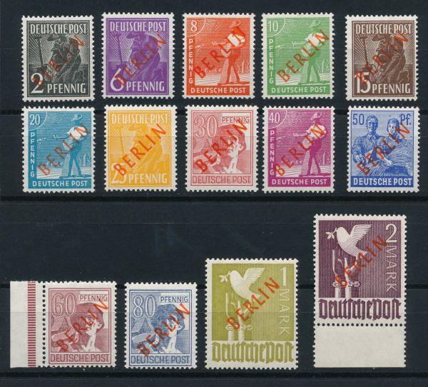 Berlin Mi.Nr.21-34 Rotaufdruck ** postfrisch geprüft
