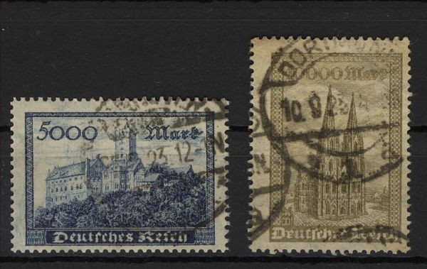 Deutsches Reich Mi.Nr.261+62b gestempelt geprüft Infla