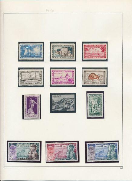 Monako 1960-1981 Reichhaltige ** Sammlung in Alben